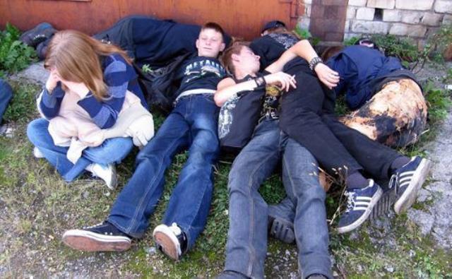 Пьяные подростки фото 2