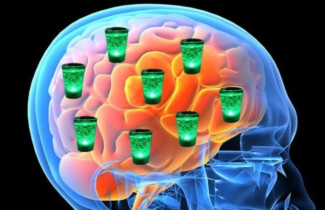 Гибель клеток мозга от алкоголя