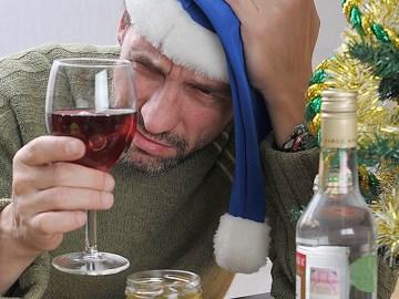 Празднование нового года с алкоголем
