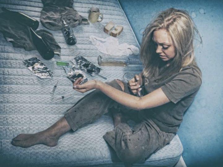 Девушка наркозависимая